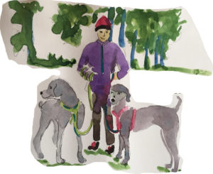 Dogs and me by Adrienne